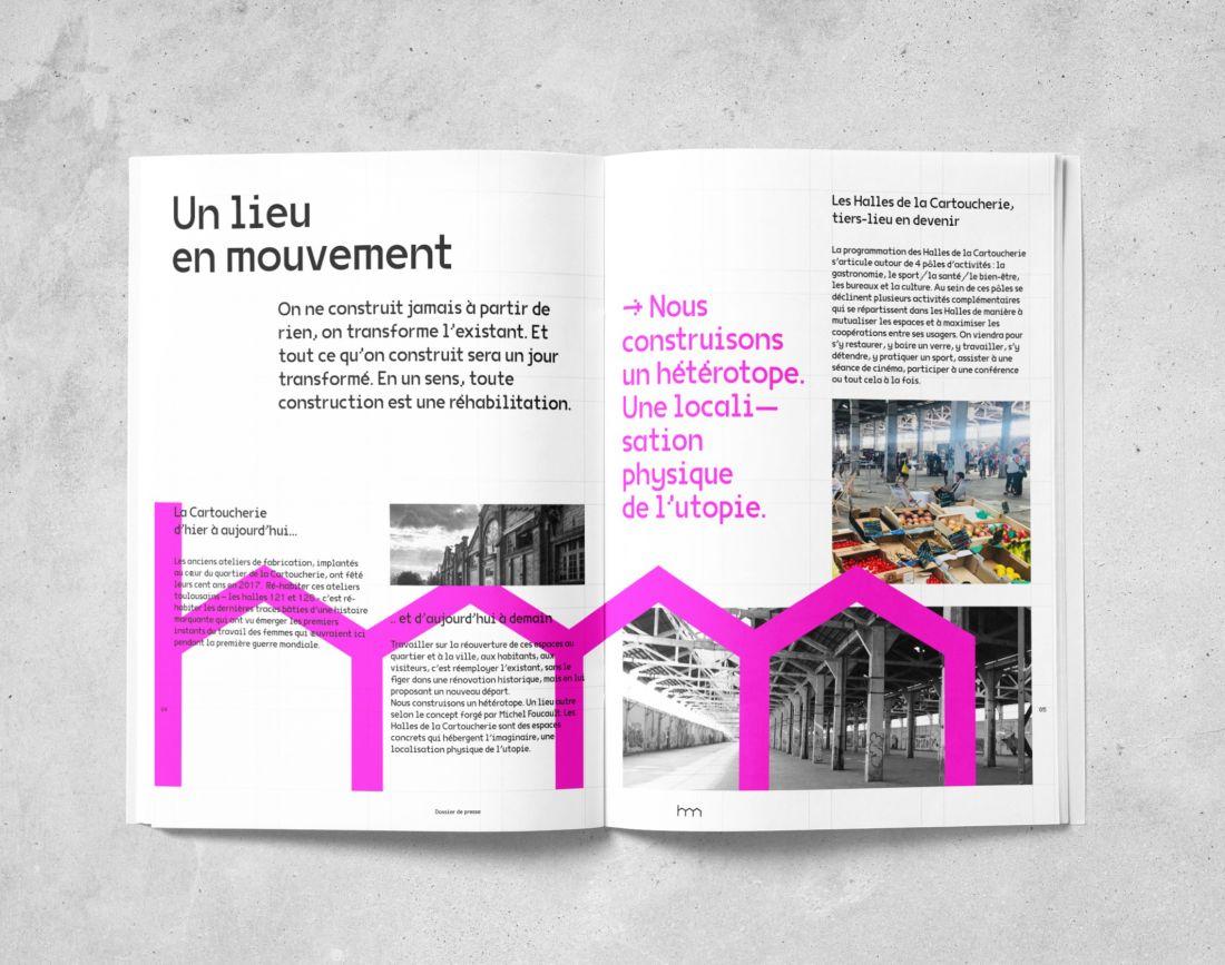 Design D Espace Toulouse brand brothers crafts an identity for les halles de la