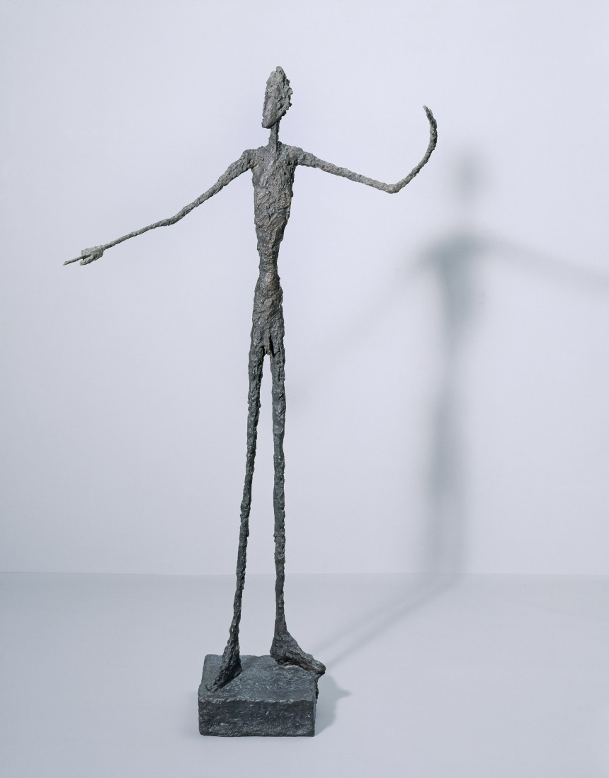 Man Pointing  1947 Bronze 178 x 95 x 52 cm Tate, Purchased 1949 © Alberto Giacometti Estate, ACS/DACS, 2017