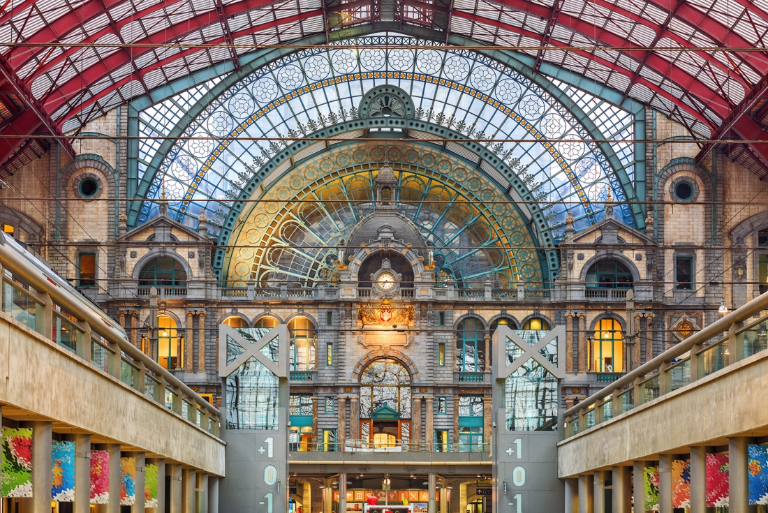 Interior of Antwerp central railway station, Belgium, Adobe Stock