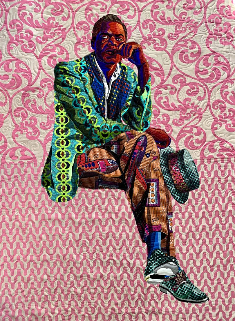 Bisa Butler, I Am Not Your Negro (2019), tapestry. Courtesy of the artist and Claire Oliver Gallery NYC