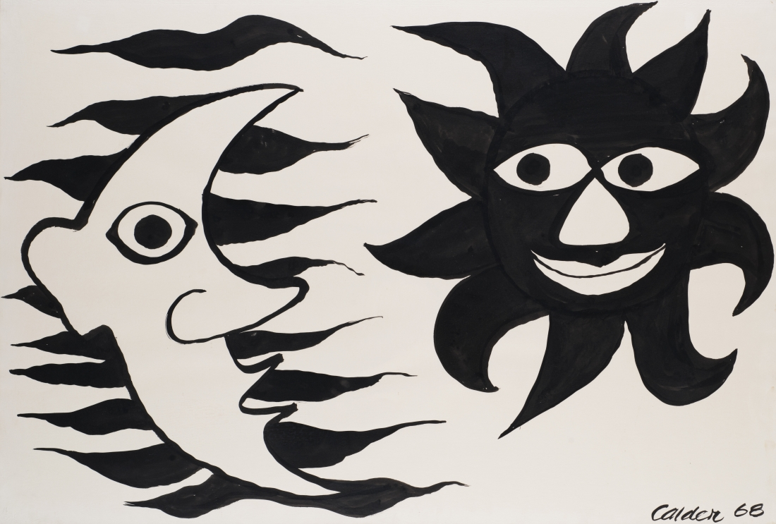 Fringed Sun and Moon, 1968 | Courtesy of Saatchi Gallery © Alexander Calder