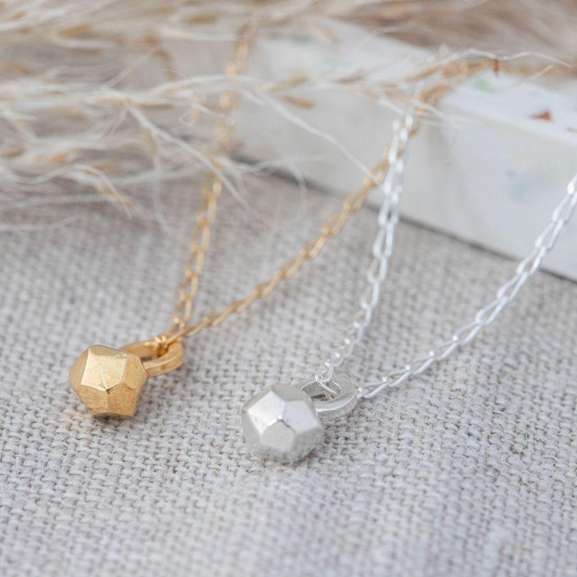 Meteorite necklace by [Elin Horgan](https://www.elinhorgan.com/product-page/meteorite-necklace-1). Priced at £80