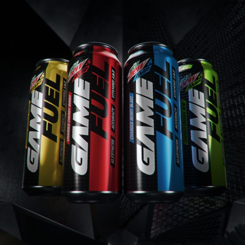 Images of Mtn Dew AMP Game Fuel Launch by PepsiCo Design and Innovation. Silver A' Design Award Winner in the Packaging Design Category, 2019-2020.
