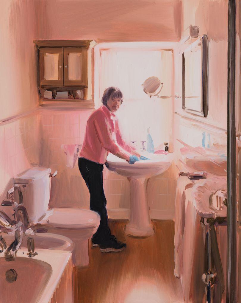 Caroline Walker Bathroom Sink Cleaning, Mid Morning, March, 2019