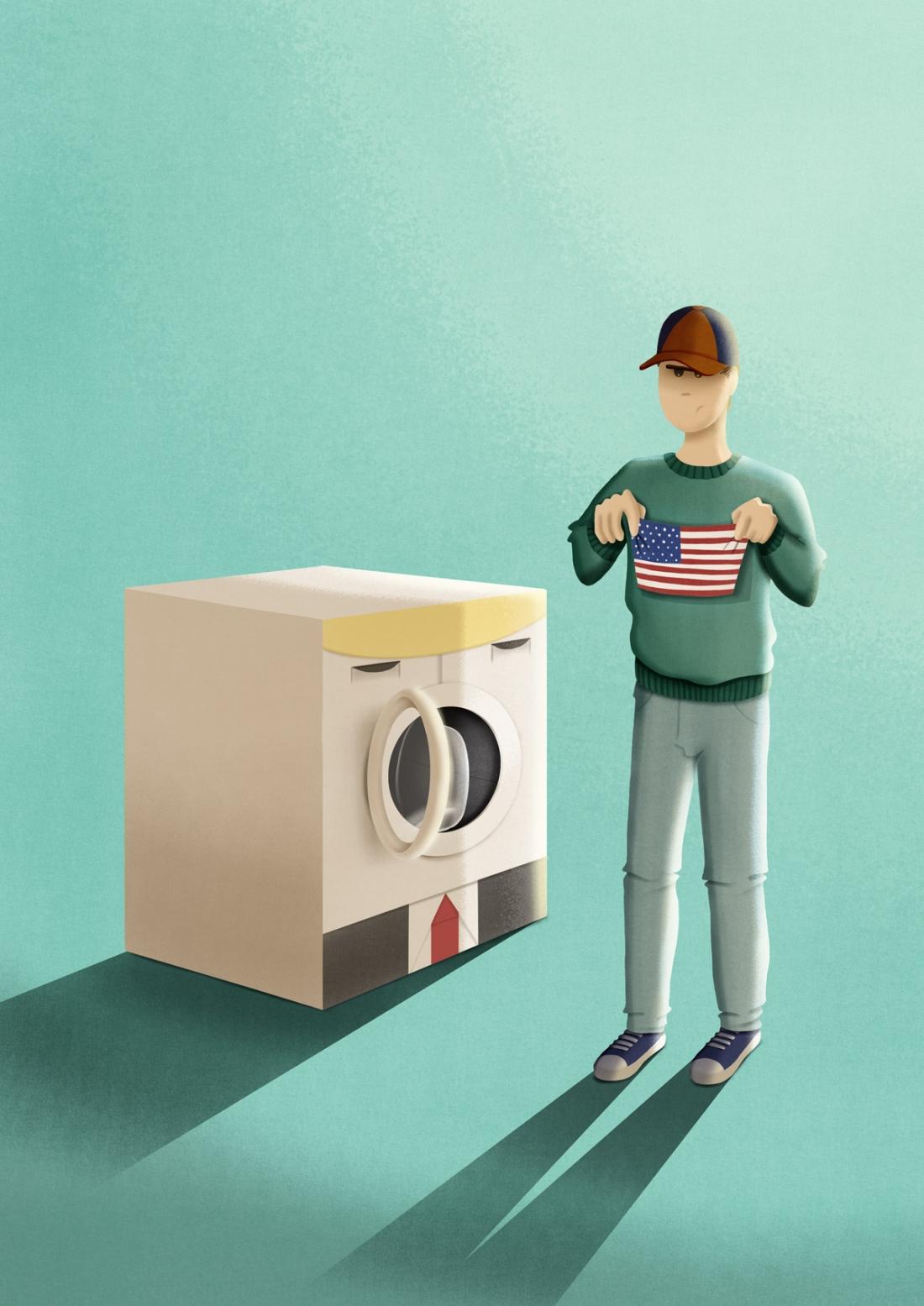 """Make America small again"" - Personal project."