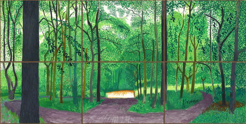 David Hockney: Woldgate Woods 26, 27 & 30 July (2006). Photo Credit: Richard Schmidt.