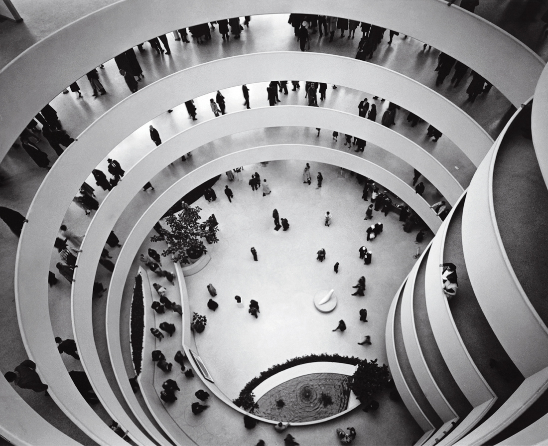 Solomon R Guggenheim Museum, New York, New York, USA, 1959, Frank Lloyd Wright. Picture credit: © The Solomon R. Guggenheim Foundation, New York. Photograph by Robert E. Mates