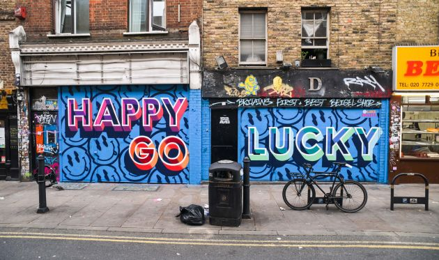 Luke Smile, London Mural Festival - 151 Brick Lane, Shoreditch, E1 6SB