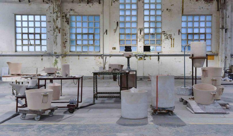 Eva Masterman, Touch Me Use Me, found furniture, ceramics, motors, wire, steel, pipe, graphite, 2007, photo Joel Fildes