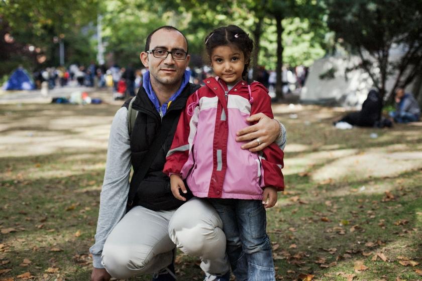 Rami and his daughter Meriam