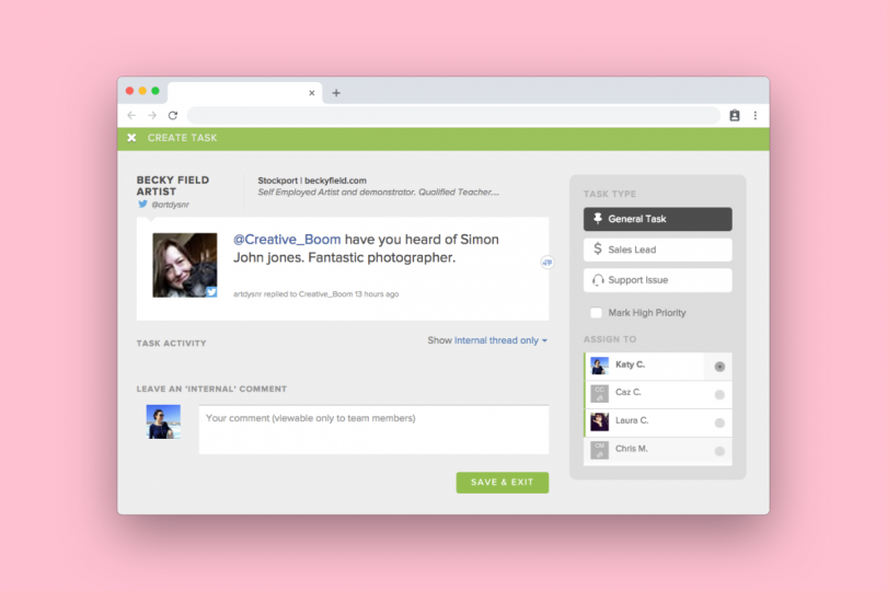 SproutSocial's HelpDesk tool