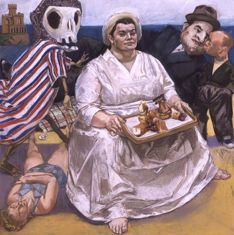 Paula REGO (b. 1935) The Cake Woman, 2004 Pastel on paper mounted on aluminium, 150 x 150 cm Collection: Private Collection © Paula Rego, courtesy of Marlborough, New York and London