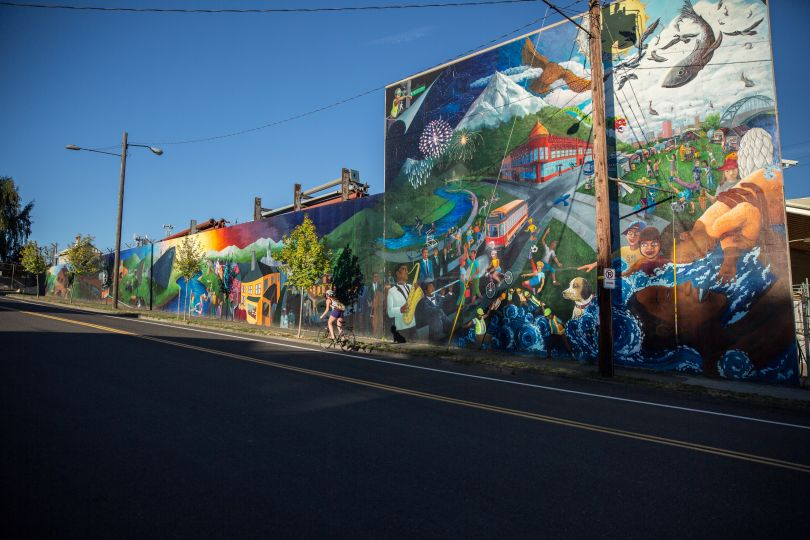 Street art in Portland. Image credit: Jamies Francis and Travel Portland