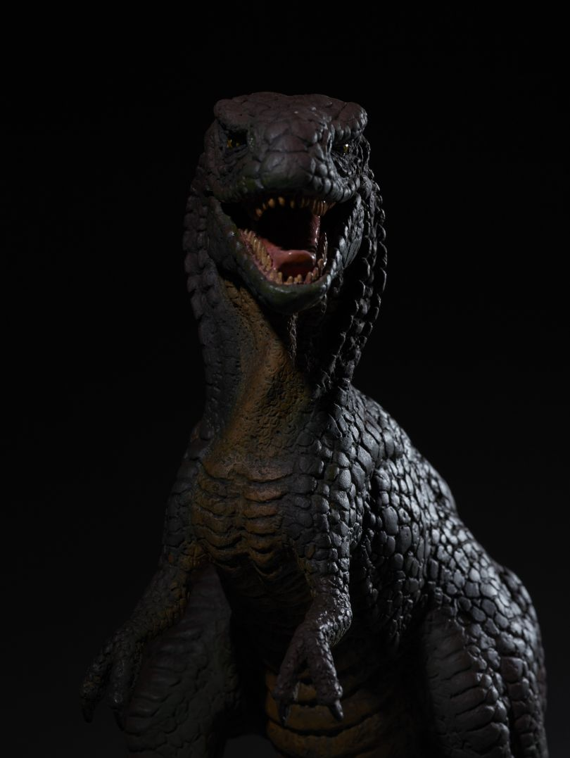 Copy resin model Allosaurus from One Million Years B.C. c. 1965 by Ray Harryhausen (1920-2013) Collection: The Ray and Diana Harryhausen Foundation (Charity No. SC001419) © The Ray and Diana Harryhausen Foundation Photography: Sam Drake (National Galleries of Scotland)
