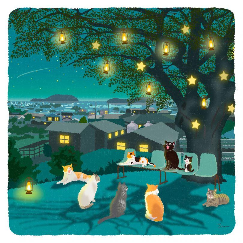Tabineko Illustration Illustration Calendar by Toshinori Mori. Winner in the Graphics and Visual Communication Design Category, 2019-2020.