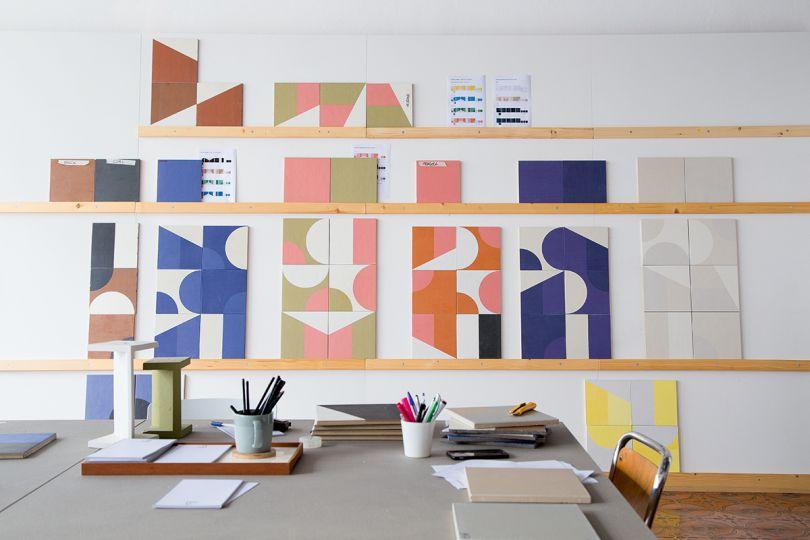 Puzzle prototypes, Mutina headquarters, Fiorano, Italy, 2015. Picture credit: Matteo Pastorio