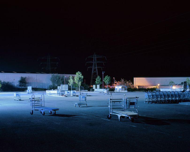 'Trolleys in empty car park, CR0', William Eckersley © William Eckersley