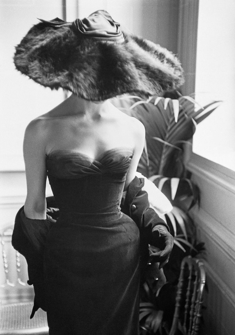 'Dior Gown with Fur Hat,' Paris, 1954, Mark Shaw © Mark Shaw / mptvimages.com