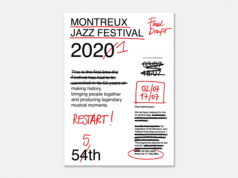 Valeria Pernice, winner of this year's Montreux Jazz Festival poster contest