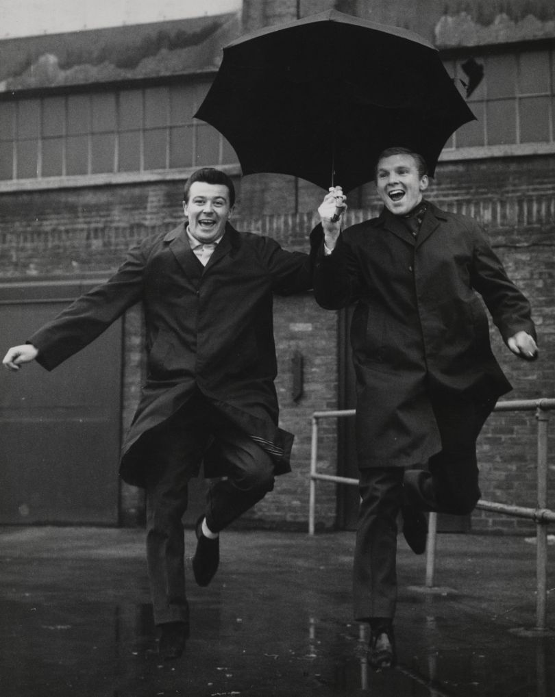 Johnny Byrne and Bobby Moore by Monte Fresco, for Daily Mirror, 1963 © Mirrorpix