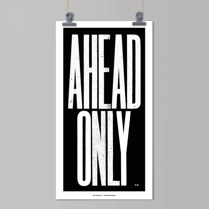 Ahead Only by Anthony Burrill