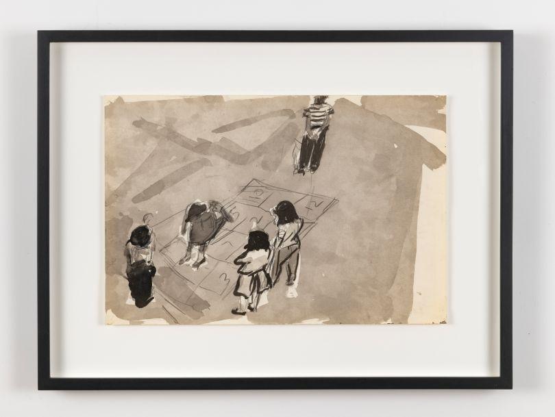 Untitled (Children Playing After Thomas Ellis Photograph, 1981 © Darrel Ellis. Courtesy of Candice Madey, New York