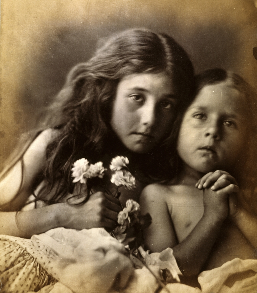 Julia Margaret Cameron, The red and white roses, 1865 Albumen print, 25.80 x 22.60 cm Collection: National Galleries of Scotland