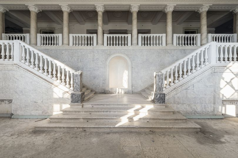 A marble staircase is seen inside this impressive former Soviet sanatorium at the Russian Riviera. It was later reconverted into a hotel but left abandoned since the Abkhaz-Georgian conflict. Gagra, Abkhazia. © Reginald Van de Velde