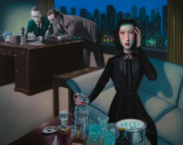 Professional Widow © Troy Brooks. All images courtesy of the artist and Corey Helford Gallery.