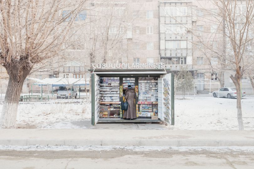 January, 2017. A woman buys a newspaper at a newsstand in Metsamor. Copyright: © stefano morelli, Italy, Shortlist, Professional, Contemporary Issues (Professional competition), 2018 Sony World Photography Awards