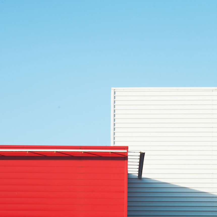Geometric minimalist photography of pastel coloured for Minimalist architecture photography