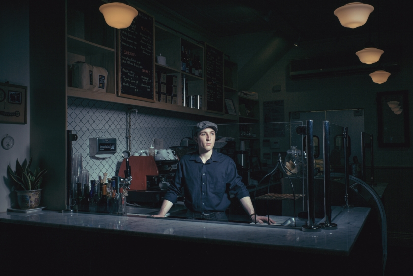 Levi Satter, actor & barista at a Brooklyn bakery