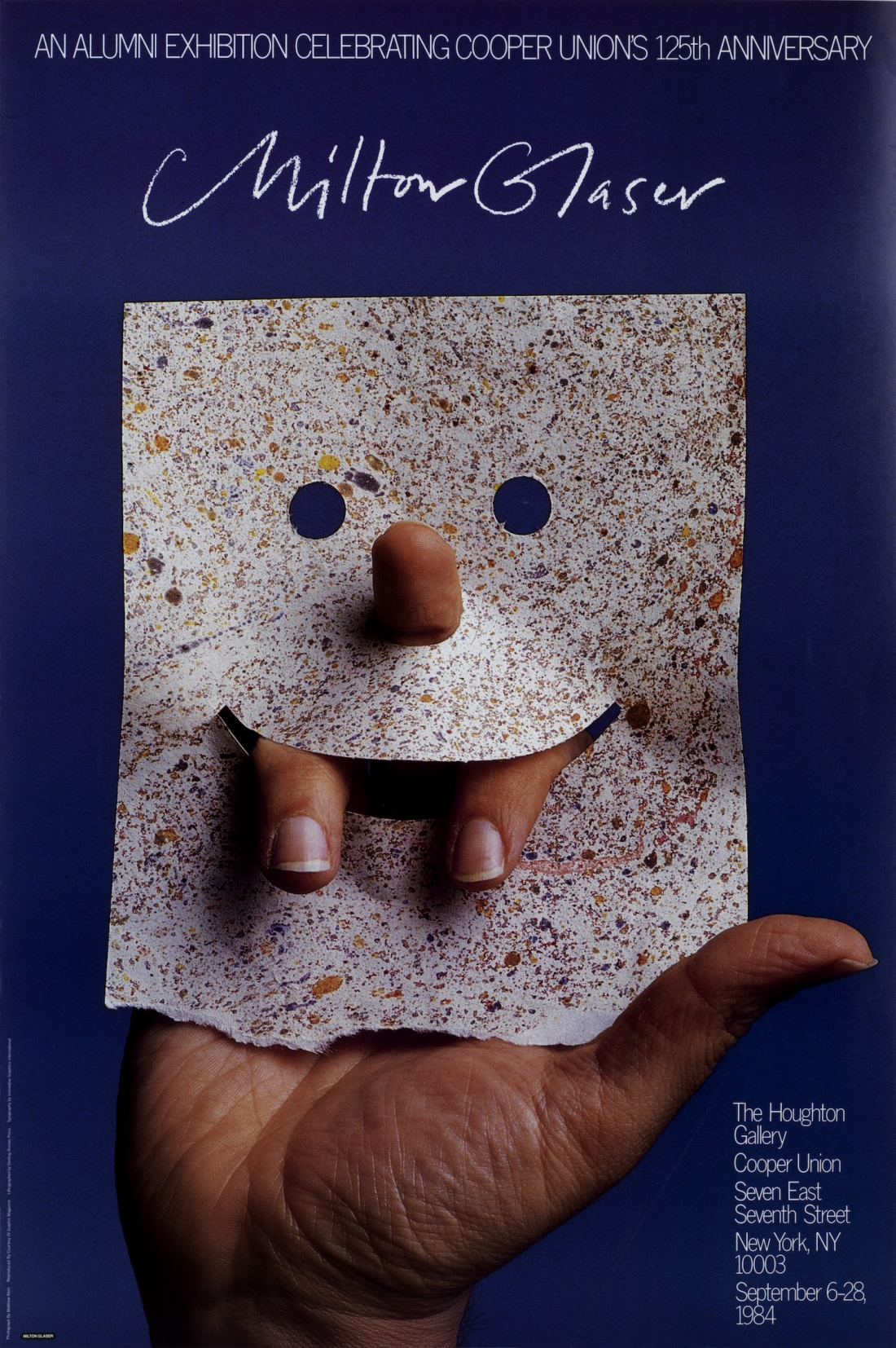 "Milton Glaser 1984. 4-color offset lithography, 36 x 24"" Client: Cooper Union"