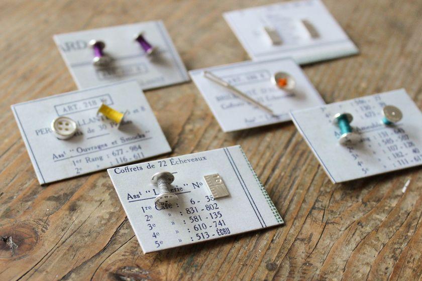 Haberdashery earrings by [Joanna Wakefield](https://folksy.com/shops/joannawakefieldjewellery)