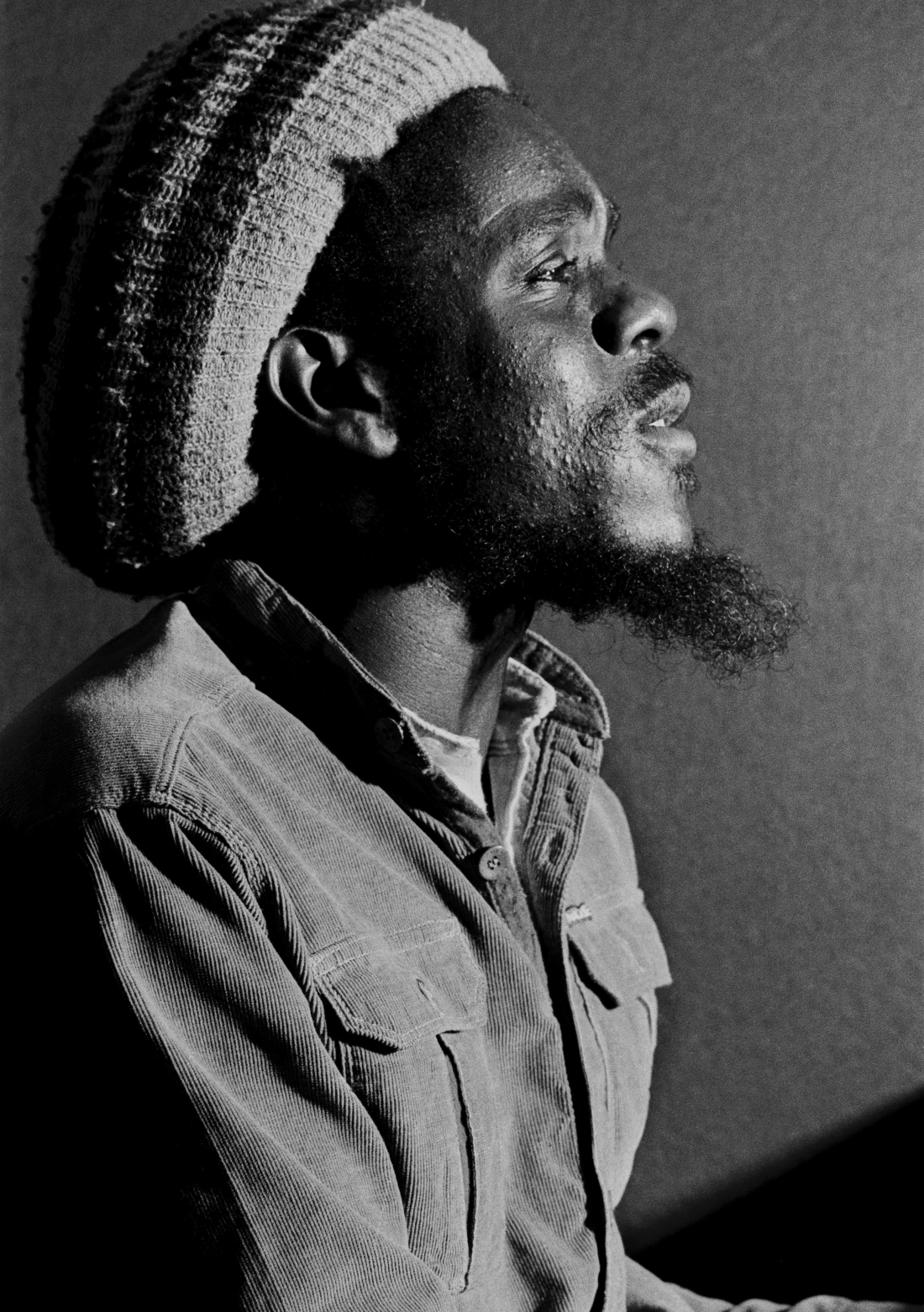 Jamaican reggae artist Dennis Brown at Berry Street studios, London 1981