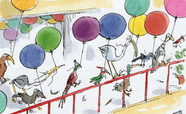 Up with Birds © Quentin Blake