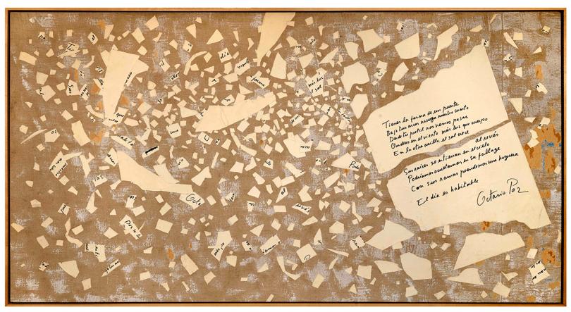 Robert Perkins, Octavio Paz, fragment from Towbridge Street, 1972 © Robert Perkins. Courtesy the Artist and Benjamin Spademan Rare Books. Photo by Louie Fasciolo
