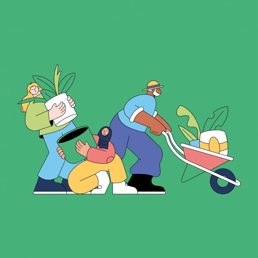 Linn Fritz, illustration for Edinburgh International Book Festival. Courtesy of the aritst and Pocko