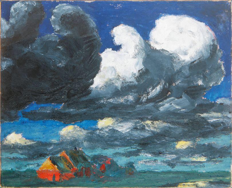 'Colour is Life' Emil Nolde (1867-1956) Landscape (North Friesland), (Landschaft (Nordfriesland)),1920 Oil on canvas, 86.5 x 106.5 cm © Nolde Stiftung Seebüll