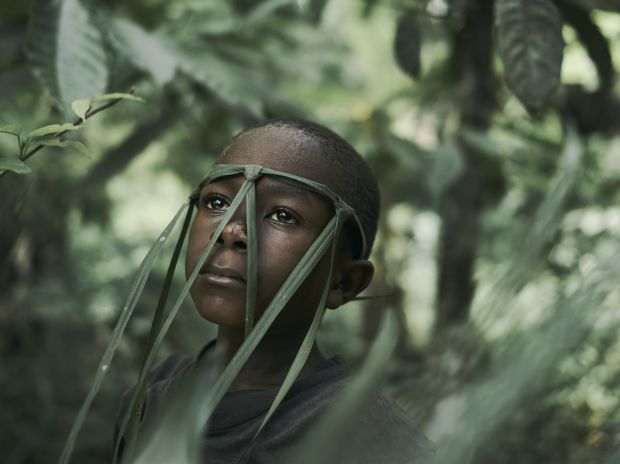 A portrait of Joe Smart, 6, known as 'Strong Joe', in the village of Tombohuaun, Kailahun District, Sierra Leone, May 2017. WaterAid/ Joey Lawrence