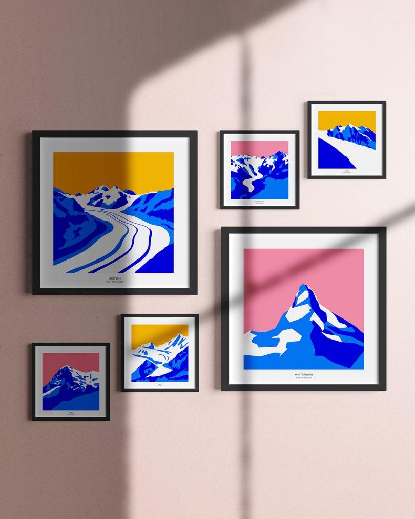 Save the Glaciers prints by  Sandra Liscio