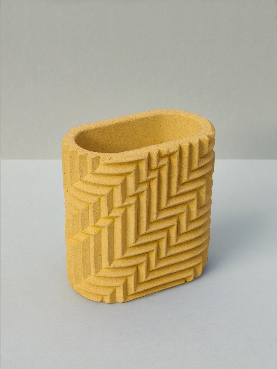 Phil Cuttance Pen Pot in Yellow