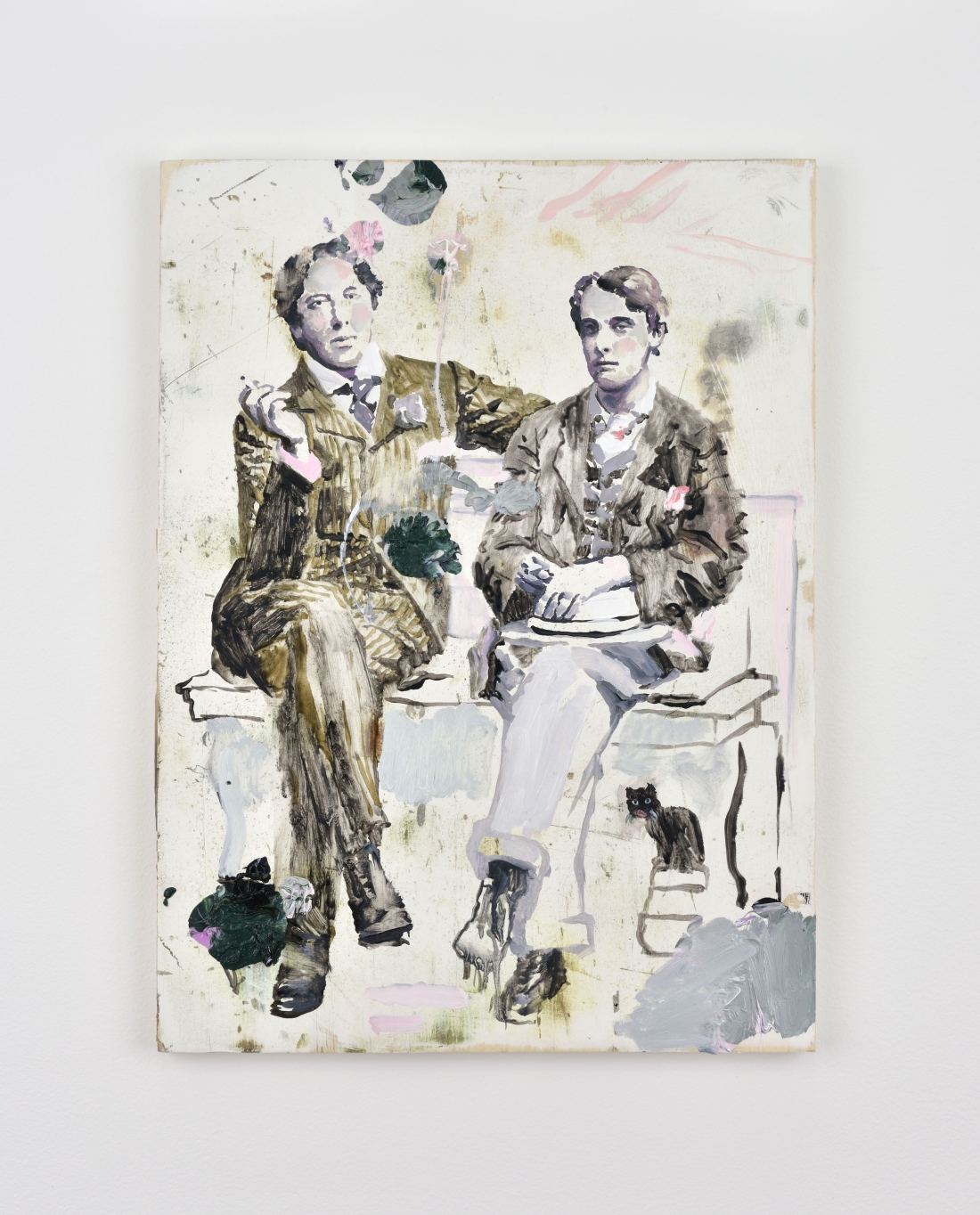 Ida TURSIC & Wilfried MILLE, Oscar Wilde & Lord Alfred Douglas, 2016 Oil on wood 15 3/4 x 11 3/4 inches 40 x 30 cm