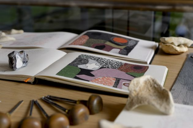 Melvyn Evans, Sketchbooks. Courtesy the artist and YSP. Photo © Jonty Wilde