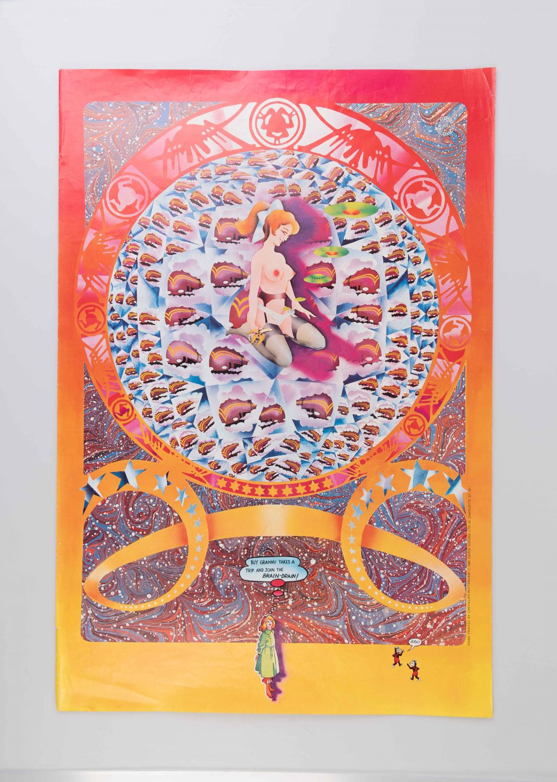 Granny Takes a Trip Advertising poster (1996). Private Collection: not for sale.