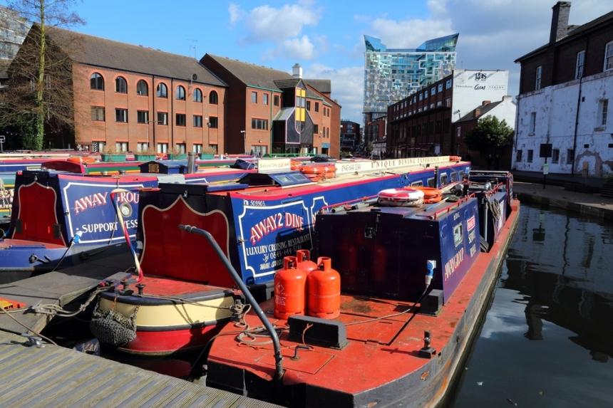 Narrowboats on Birmingham's canals. Image Credit: Tupungato/[Shutterstock](http://www.shutterstock.com/)