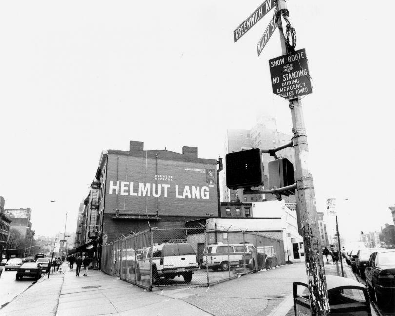 Advertisement for Helmut Lang, New York, 2000 © Elfie Semotan