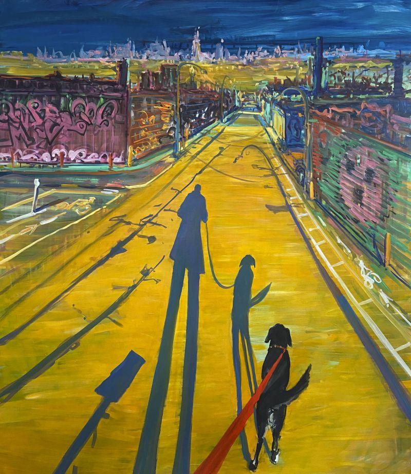 Quiet City: Paintings by Deborah Brown of dog walks on the empty streets of Brooklyn