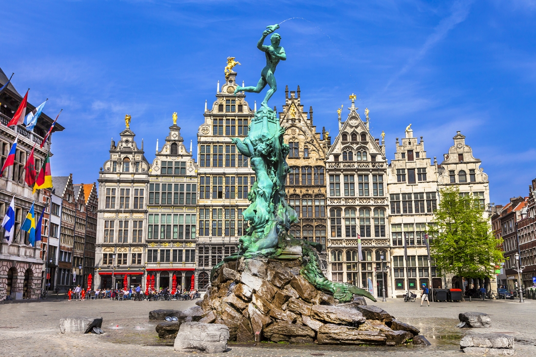 Traditional flemish architecture in Belgium - Antwerp, Adobe Stock