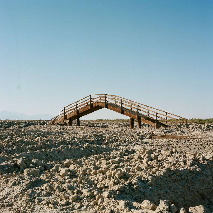 Surface roughening near entry of Alamo River to Salton Sea © Debbie Bentley